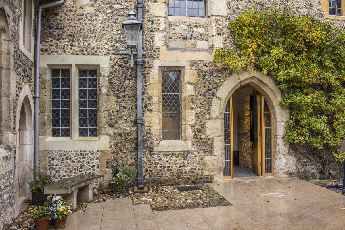 Entrance to the Treasury at Winchester College in Winchester 1051