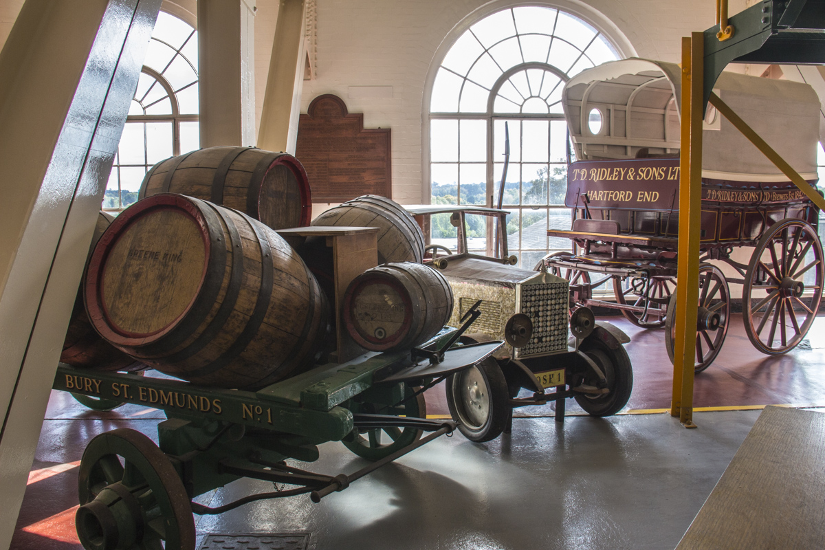 Exhibits in the Greene King Brewery in Bury St Edmunds, Suffolk, UK   2