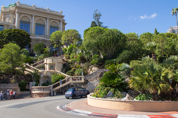 Fairmont Hair Pin bend on the Monaco Grand Prix circuit in Monte Carlo, Monaco