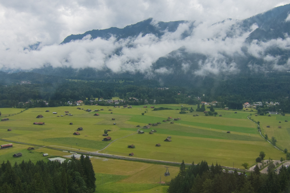 Fields around Garmisch-Partenkirchen in Bavaria