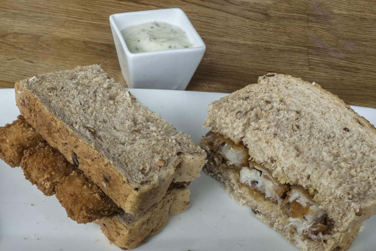 Fish Finger Sandwich at the Wellington Cafe in Deal, Kent  5060398