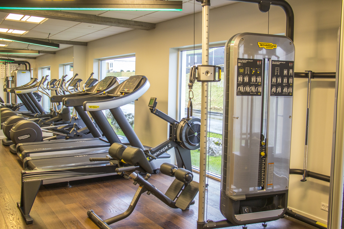 Fitness room at the Hotel Føroyar in Tórshavn, capital of the Faroe Islands 7148