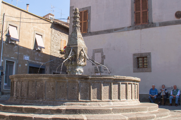 Fontana di Pianoscarano in Viterbo, Italy