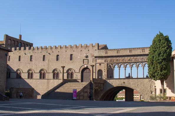 ormer Papal Palace and Loggia overlooking the town of Viterbo in Italy