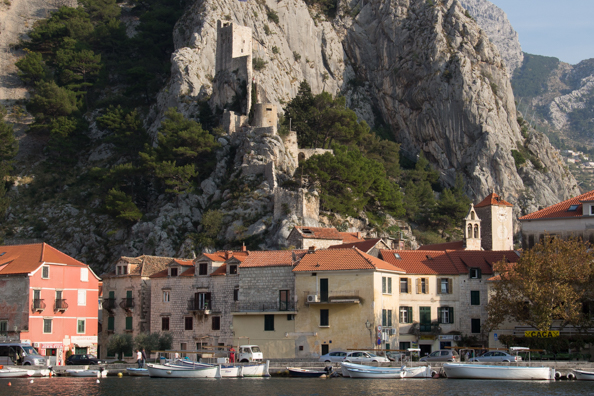Fortress Mirabella or Peovica above Omis in the Dalmatian region of Croatia
