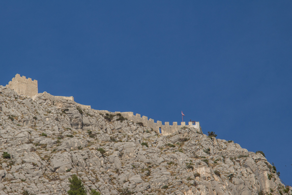 Fortress Starigrad or Fortica above Omis in the Dalmatian region of Croatia