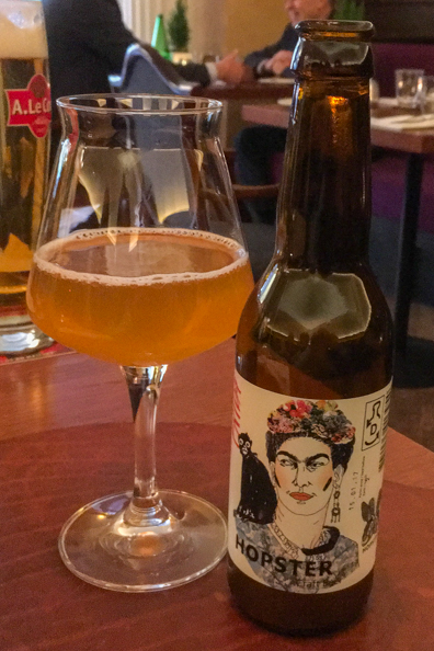 Frida, a Hopster hand-crafted wheat beer with fresh mango and passion fruit at Restaurant Leib resto ja Aed in Tallinn, Estonia
