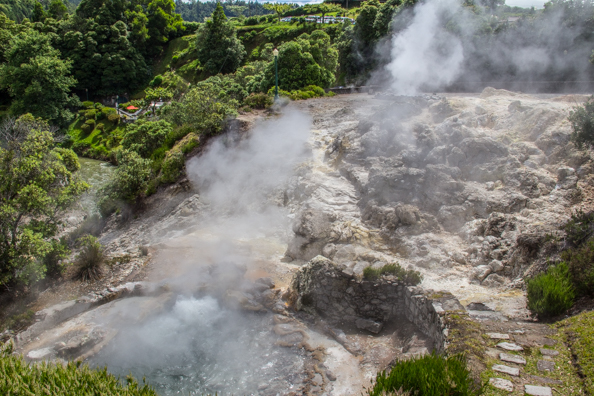 Furnas Volcano Caldera in the Furnas Valley on São Miguel Island in the Azores