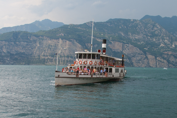 G Zanardelli a steamboat ferry on Lake Garda in Italy