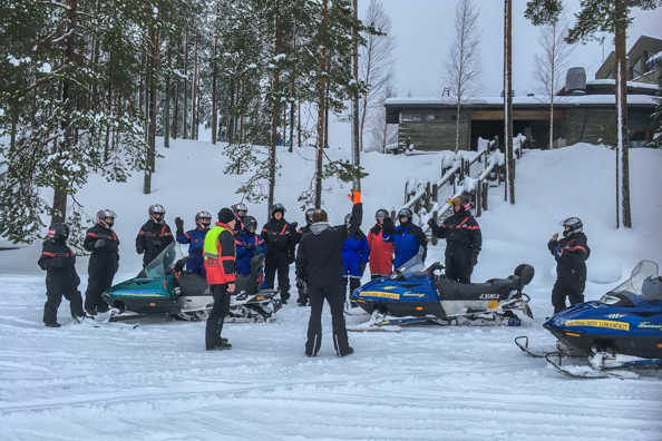 Getting Ready to go on a Snow Mobile Safari, Hotel Kalevala, Kuhmo, Finland