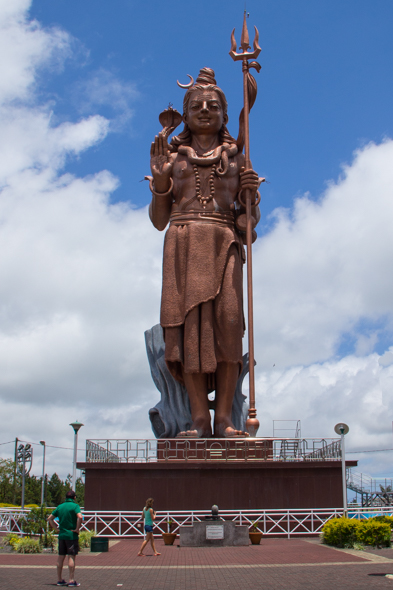 Giant statue of Shiva, Grande Bassin on Mauritius