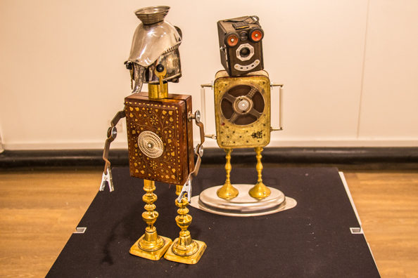 Gizmobots at the Red House Museum in Christchurch, Dorset UK