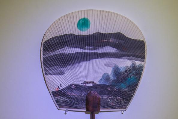 Hand-made Danseon Korean fan in Jeonju Buchae Culture Centrein, Jeonju in South Korea