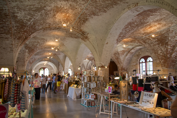 Handicraft fair inside the Arsenale in Verona, Italy