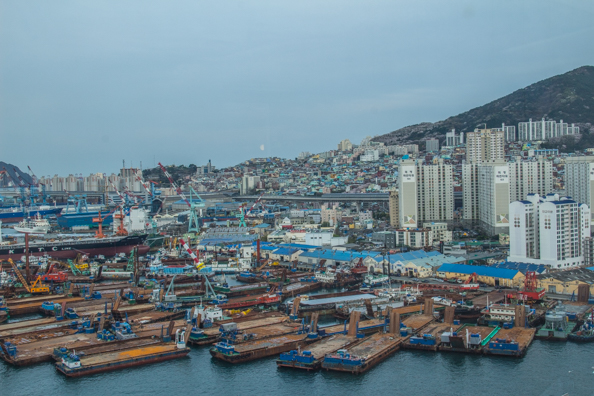 Harbour of Busan in South Korea