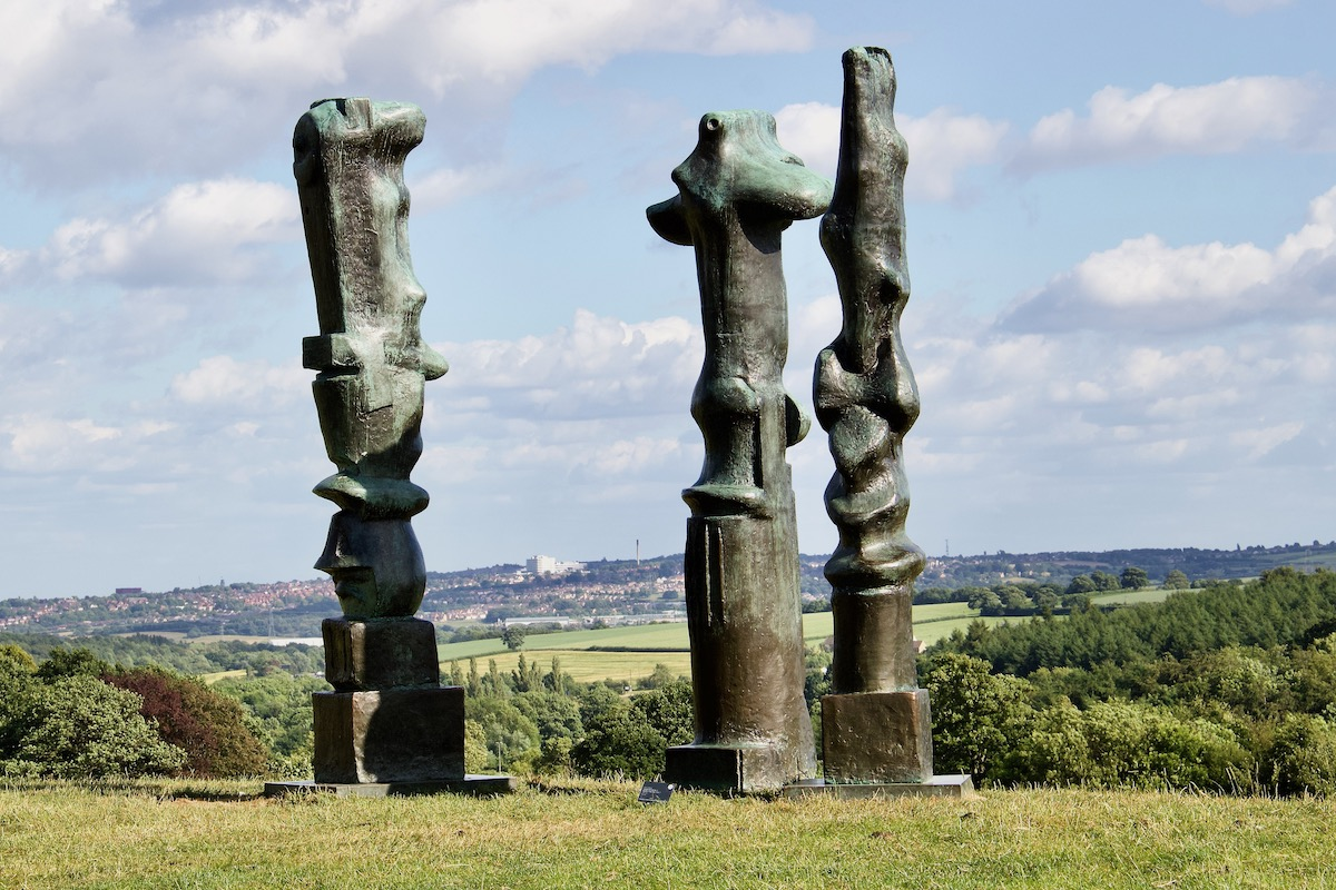 Henry Moore   Upright Motives in the Yorkshire Sculpture Park, West Yorkshire, UK