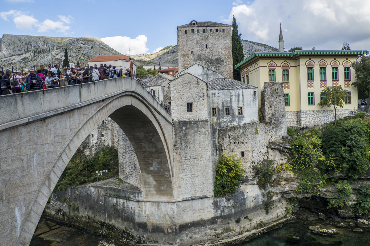 Herceguša Tower on Stari Most of Mostar in Bosnia and Herzegovina  190761