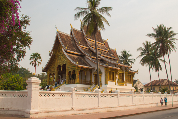 Hor Prabang in the grounds of the Royal Palace Museum in Luang Prabang, Laos