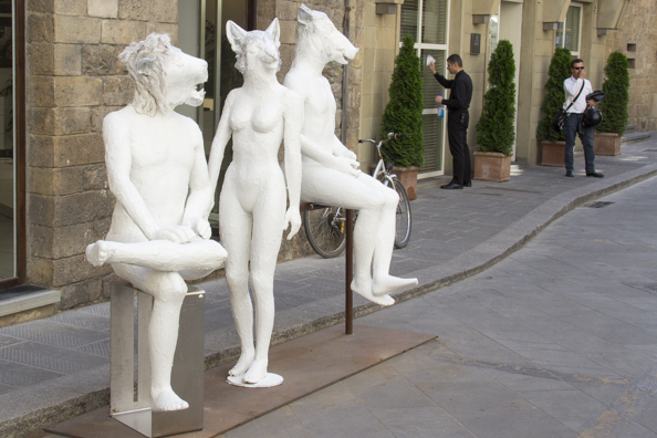 Outside Hotel Gallery Art in Florence, Tuscany in Italy