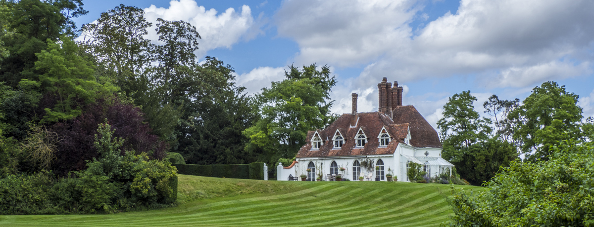 Houghton Lodge and its Tea Rooms in the Test Valley, Hampshire