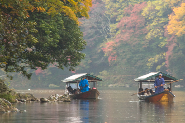 Hozugawa River Boat Cruises in Arashiyama, Japan