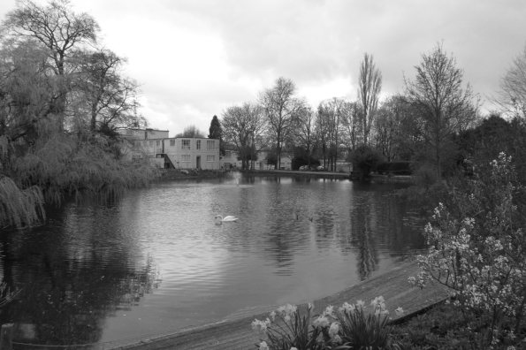 The lake at Bletchley Park Buckinghamshire