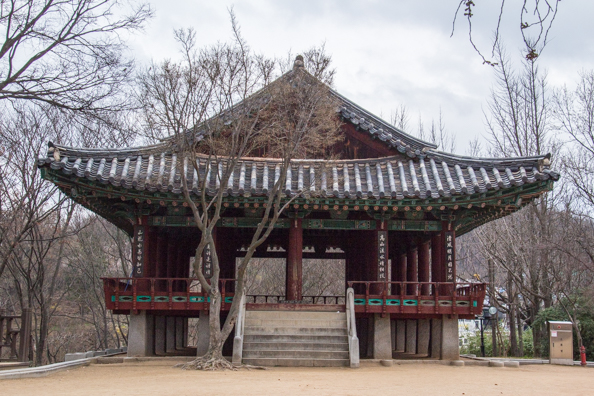 Imokdae Pavilion on Omokdae Terrace above Jeonju in South Korea