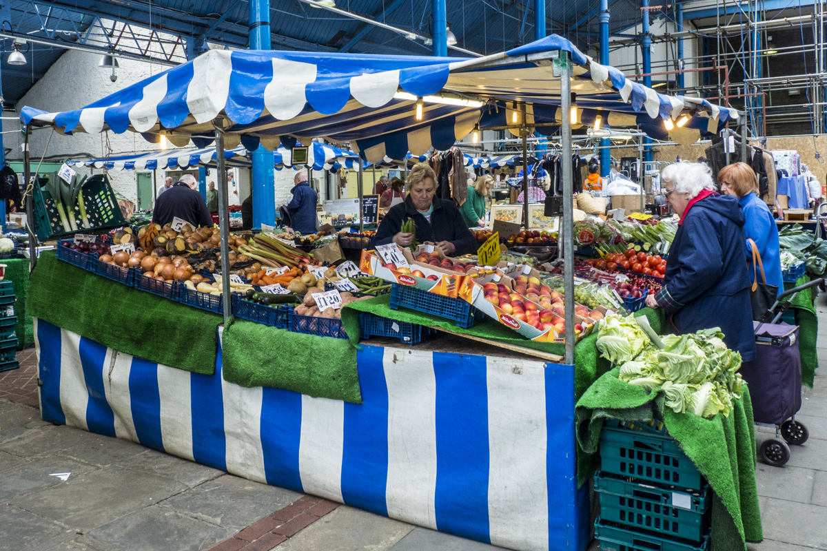 Indoor Market in Abergavenny in Wales 5100957