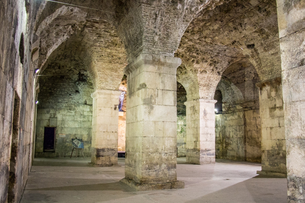 Inside Diocletian's Palace in Split, Croatia