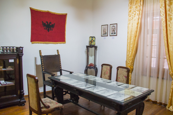 Inside the National Museum of Independence in Vlora, Albania