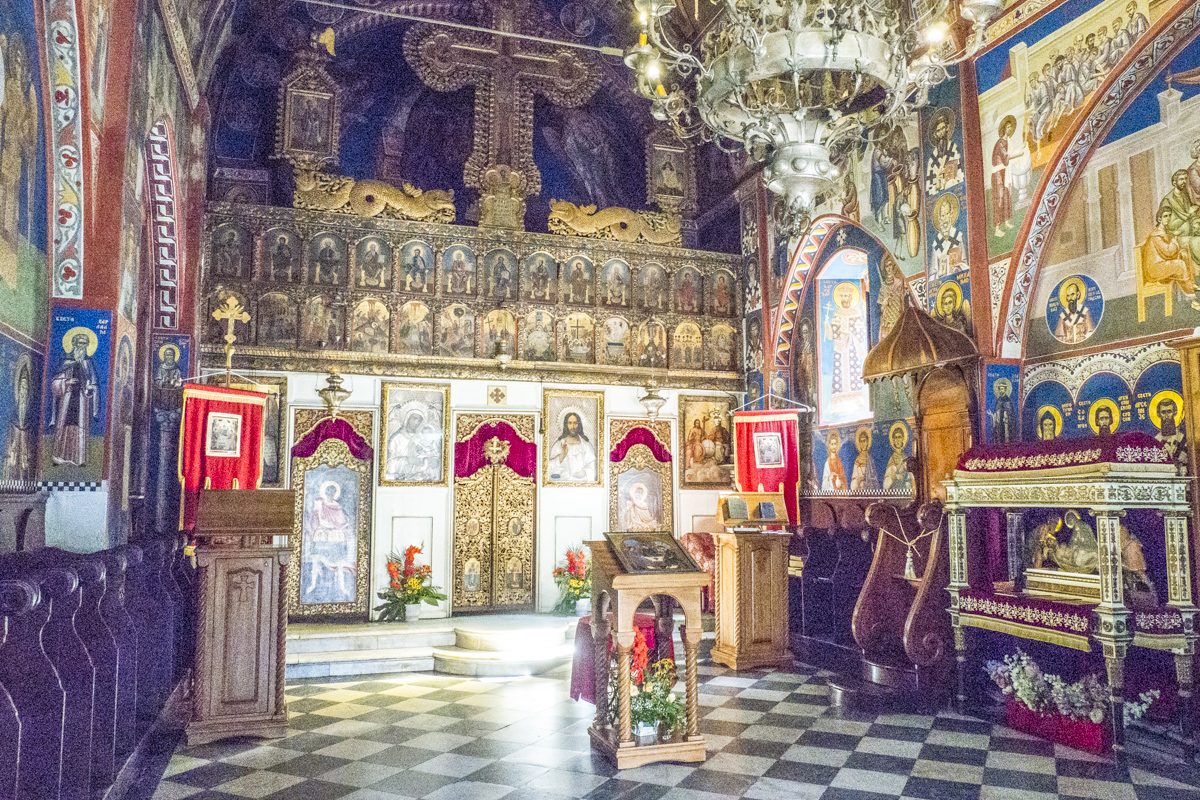 Inside the Churh of the Holy Trintiy in the Old Town of Budva in Montenegro 150202