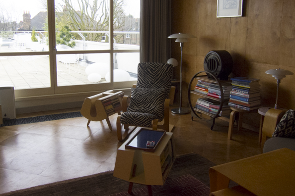 Inside the penthouse at the Isokon Building in Hampstead London-82
