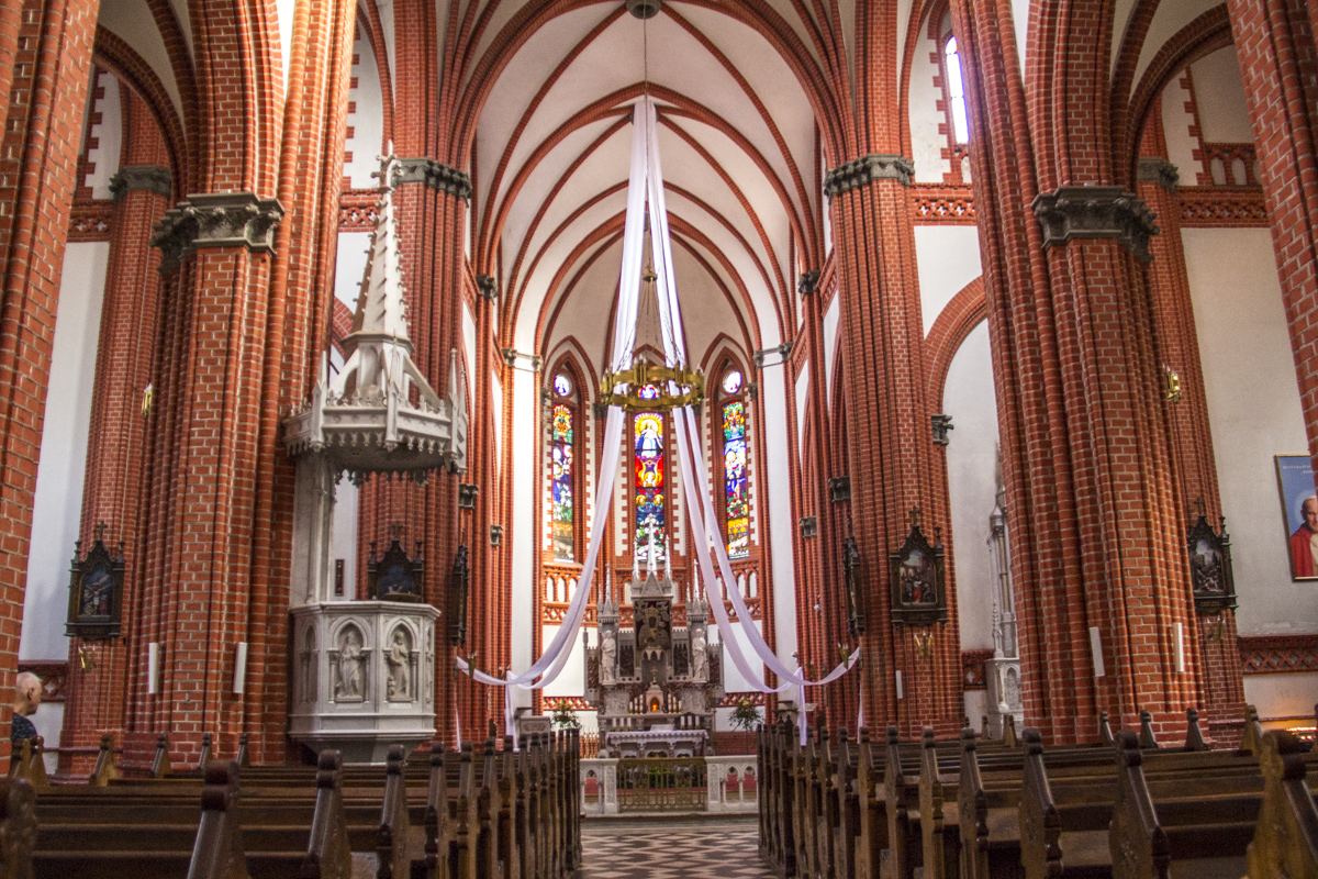 Inside the Roman Catholic Church in Palanga, Lithuania  0011