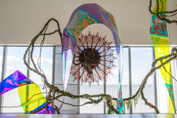 Installation in the foyer of the Turner Contemporary in Margate, Thanet in Kent