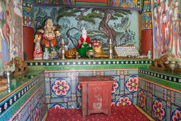 Interior of a shrine at Gumyeongsa Temple in Taejongdae Park in Busan, South Korea