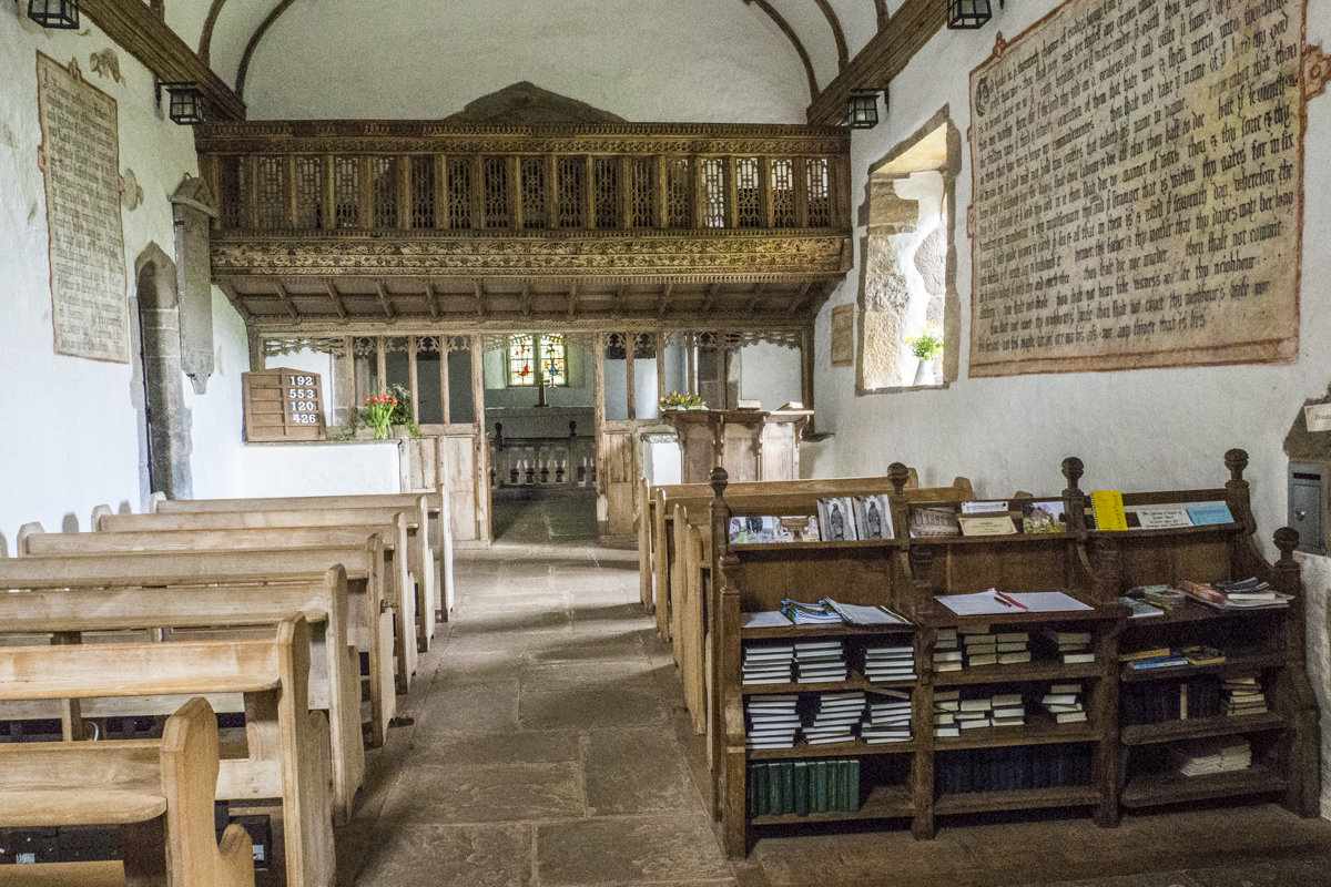 Interior of St Issui at Partrishow near Abergavenny in Wales 5111158