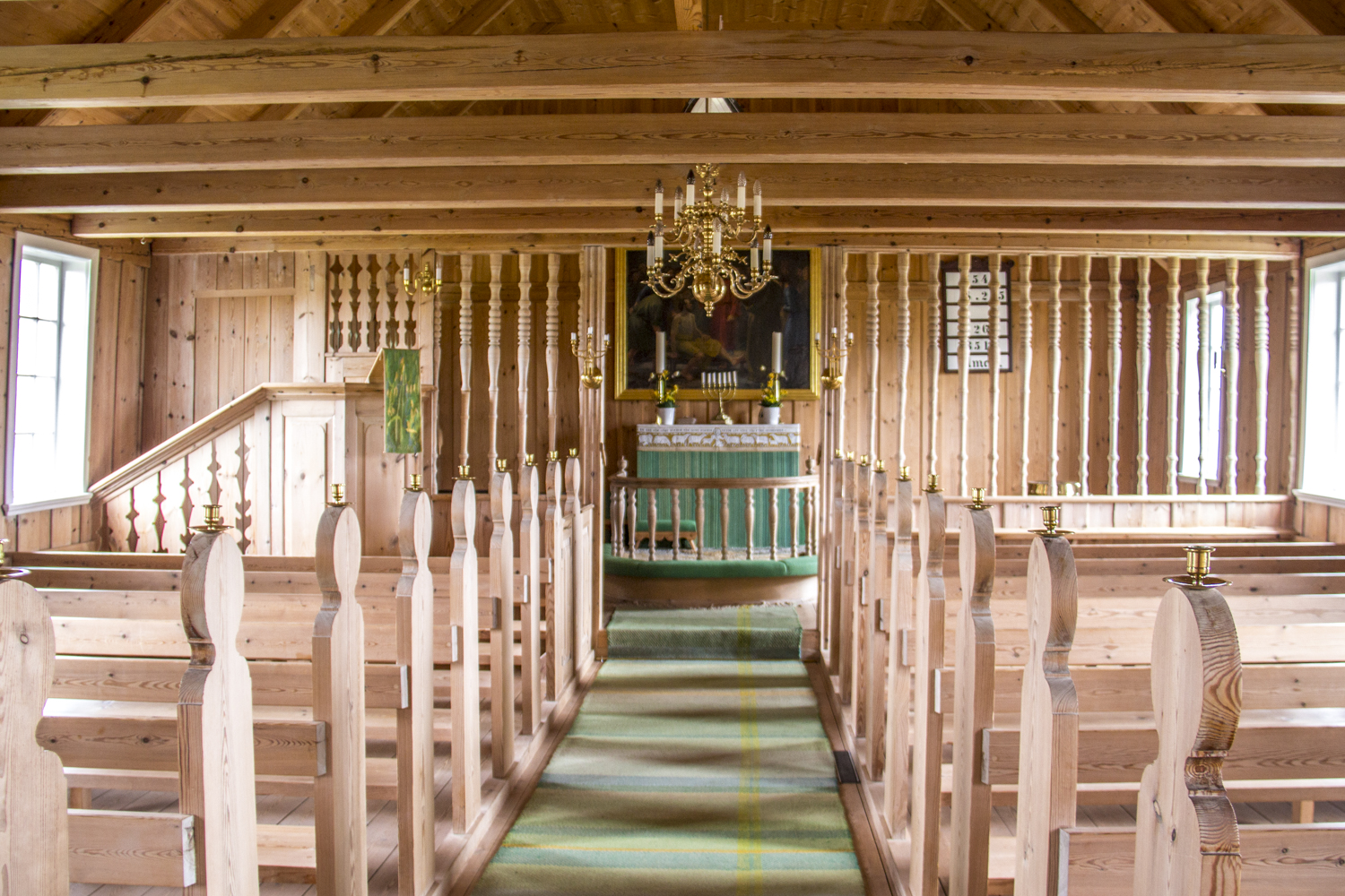 Interior of the Church at Sandur on the island of Sandoy in the Faroe Islands 7543