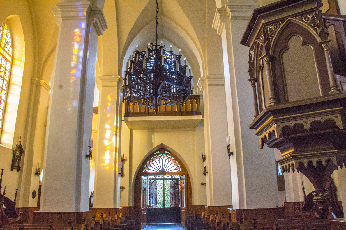 Interior of the  Church of Saint Anthony of Padua in Birštonas in Lithuania   7980