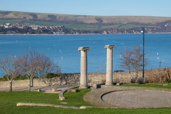 Ionic Columns in Swanage in Dorset, UK