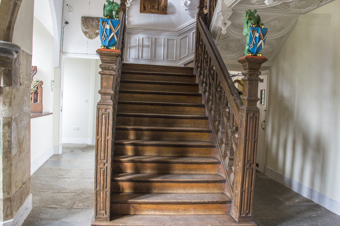 Jacobean staircase in the Biship's Palace in Wells, Somerset, England   20185315