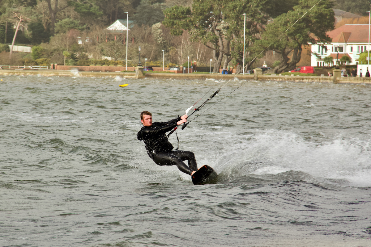 Kite Boarder in Poole Harbour, Dorset