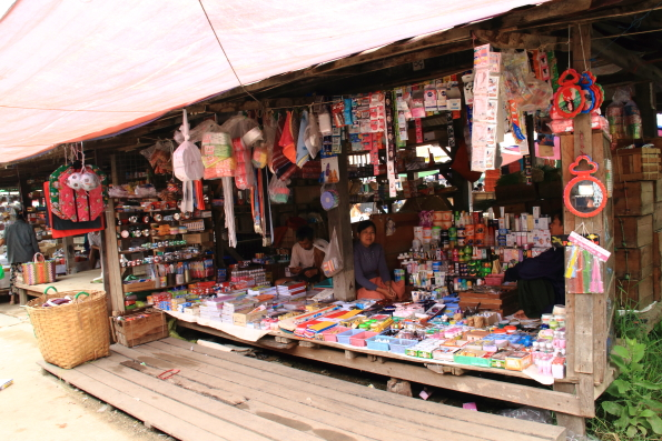 Local market on the shores of Lake Inle in Myanmar