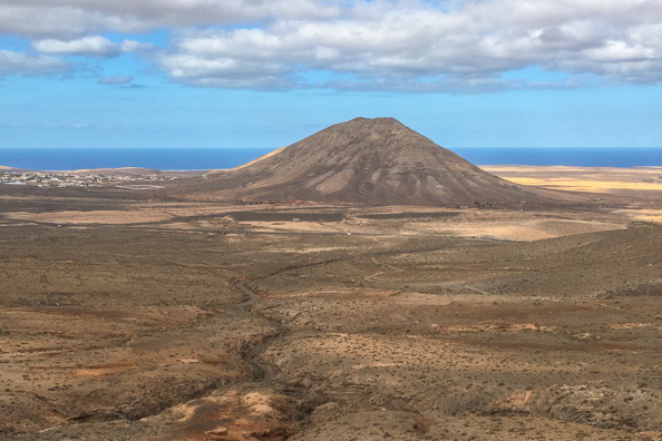 Looking back towards La Oliva on Fuerteventura
