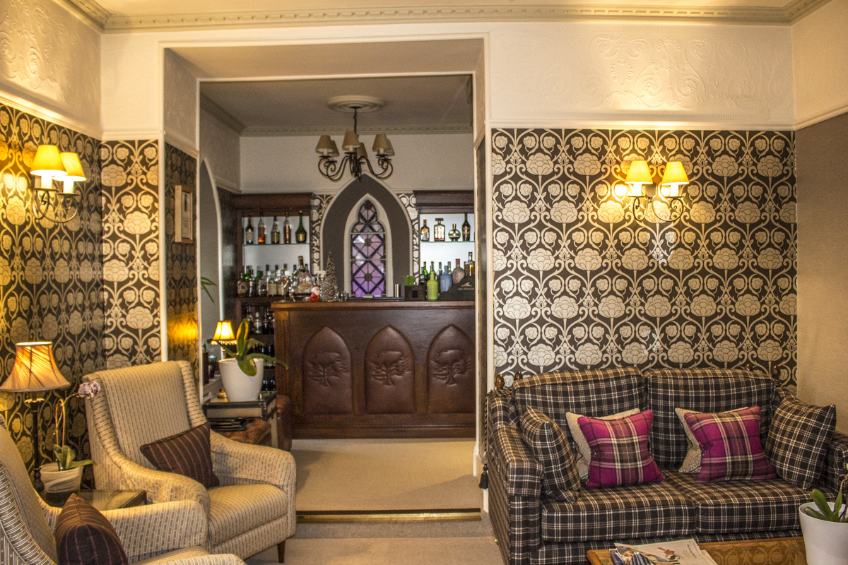 Lounge and Bar at the Cedar Manor Hotel in Windermere, Cumbria, UK  0004