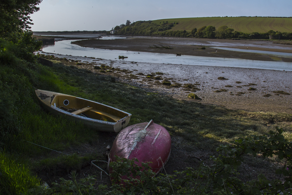 Low tide in the estuary at Newport, Pembrokeshire, Wales 8554