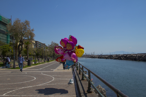 Lumgomare Trieste along the sea front in Salerno Italy