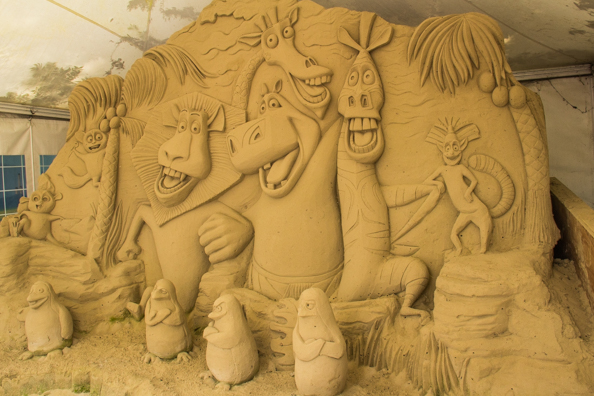 Madagascar at SandWorld in Weymouth, Dorset, UK