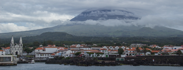 Madalena the port and main town of Pico Island in the Azores