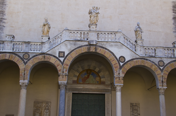 Main entrance to the cathedral of Saint Matthew in Salerno