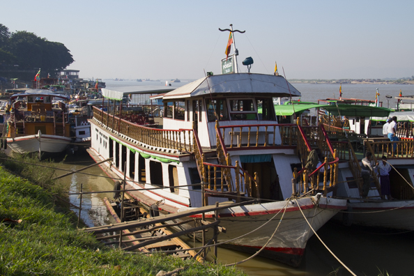 Ayeyarwaddy River at Mandalay in Myanmar